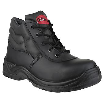 Centek FS30c Mens Safety Boots Textile Leather PU Lace Up Fastening Footwear