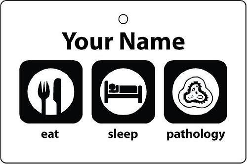 Personalised Eat Sleep Pathology Car Air Freshener