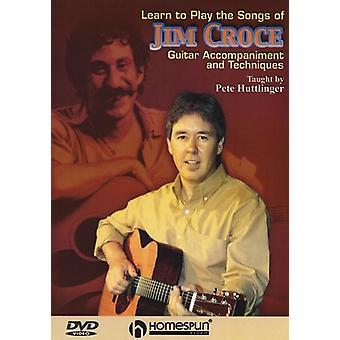 Lære at spille sange af Jim Croce - Lær at spille sange Jim Croce - undervist af Pete Huttlinger [DVD] USA import