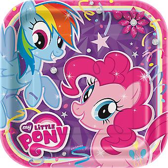 Min lille Pony 9 Inches firkantet Party plader [8 Per pakke]