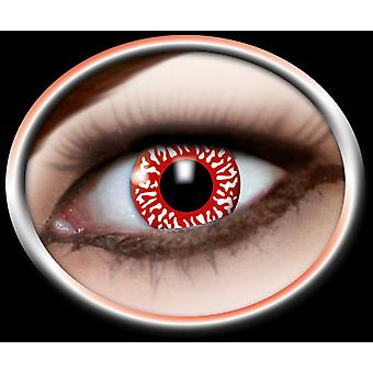 BLOODY red contact lenses 1 pair horror Halloween Carnival