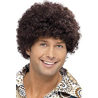 70s disco guy wig, Brown