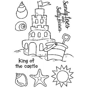 Woodware Clear Stamp acrilico Sandcastle Set 8 pezzi