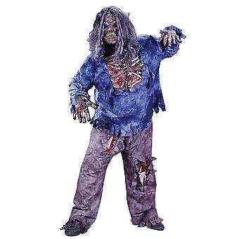Komplet 3D Zombie skelet Halloween mænd Costume Plus