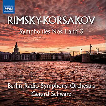 Nikolai Rimsky Korsakov - Symphonies Nos. 1 & 3 [CD] USA import