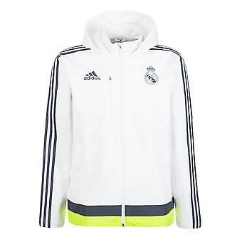 2015-2016 Real Madrid Adidas Travel Jacke (weiß)