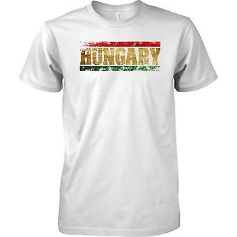 Efecto de bandera de Hungría Grunge país nombre - niños T Shirt