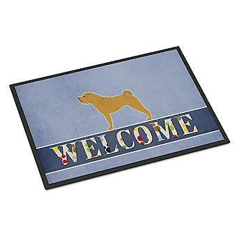 Shar Pei Merry Welcome Indoor or Outdoor Mat 24x36