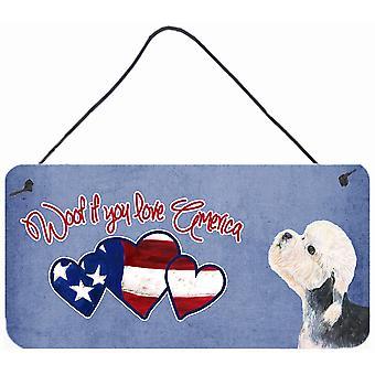 Guau si te gusta América Dandie Dinmont Terrier pared o puerta colgantes grabados