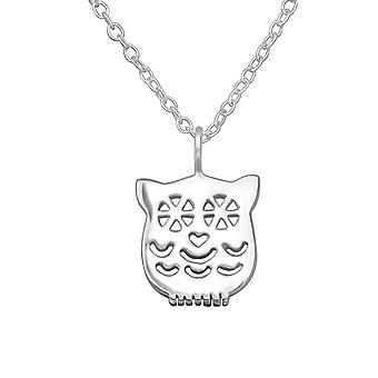 Owl - 925 Sterling Silver Plain Necklaces - W29890x