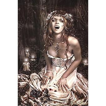 Vampire Girl Poster Poster Print by Victoria Frances