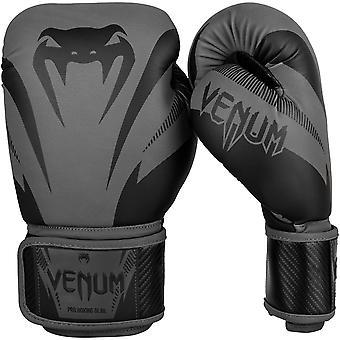 Venum 影響フックとループ トレーニング ボクシング グローブ - グレー/ブラック