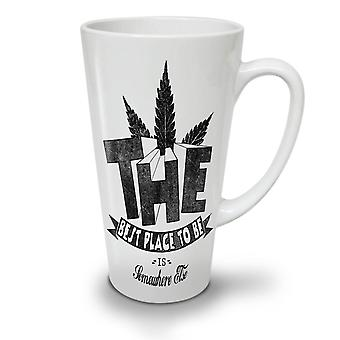 Best Place Weed Pot NEW White Tea Coffee Ceramic Latte Mug 17 oz | Wellcoda
