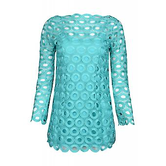 Ashley brooke by heine blouse women's lace tunic turquoise