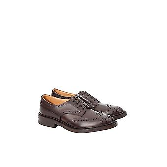 Tricker's men's BOURTONESPRDN Braun leather lace-up shoes