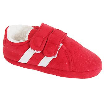 Slumberzzz Childrens/Kids Double Stripe Double Strap Slippers