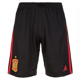 2018-2019 Spania Adidas trening Shorts (svart)