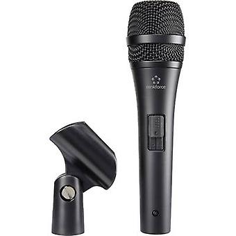 Handheld Microphone (vocals) Renkforce AVL2700 Transfer type:Corded incl. clip, Steel enclosure, Switch