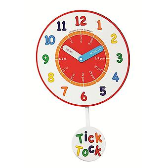 Children's Learning Tick Tock Wall Clock