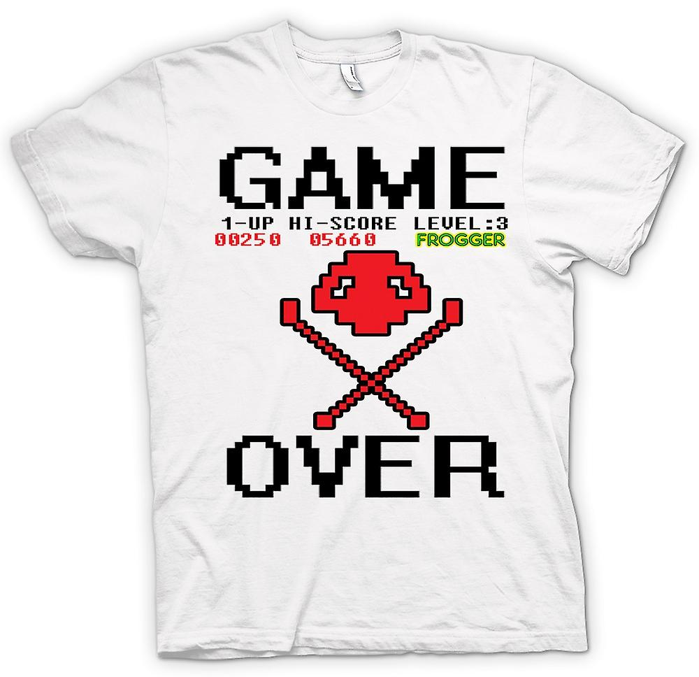 Mens T-shirt - Frogger Game Over - Retro Computer Game 0s