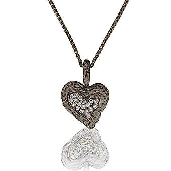 Orphelia Silver 925 Chain With Pendant Heart Black Rhodium Plated Zirconium  ZH-7082/2