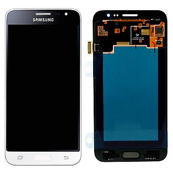 Display LCD complete set GH97 18414A white Samsung Galaxy J3 J320F 2016