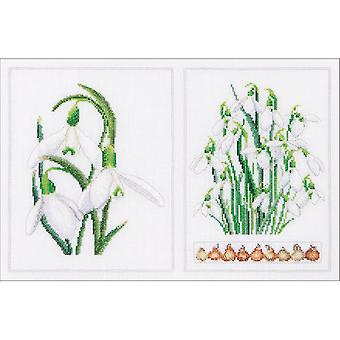 Snowdrops Panel On Aida Counted Cross Stitch Kit-13.25