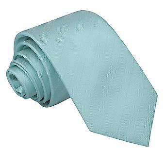Aqua Herringbone Silk Slim Tie