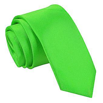 Apple Green platte satijnen mager gelijkspel