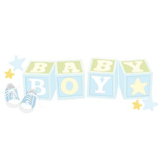 Jolee's Boutique Title Waves Dimensional Stickers-Baby Boy