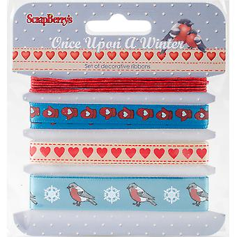 Scrapberry's Once Upon A Winter Ribbon & Trim 4/Pkg-1M Each