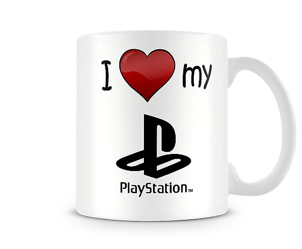 I Love My PlayStation Logo Printed Mug
