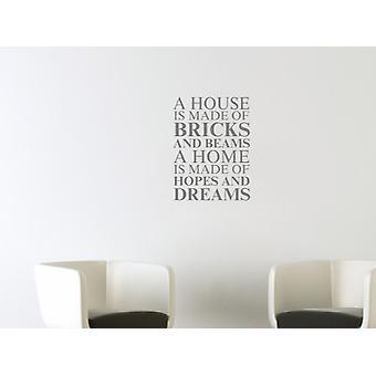 Et hus er laget av veggen kunst klistremerke - grå