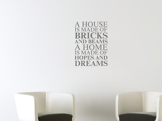 A house is made of Wall Art Sticker -  Grey