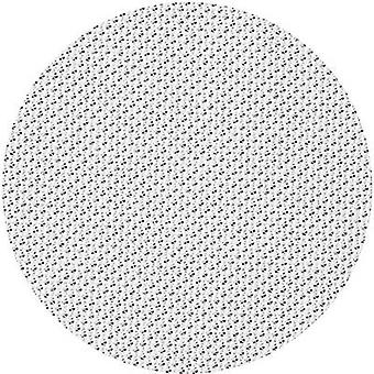 Stretched Speaker Cover Fabric White (L x W) 100 cm x 75 cm