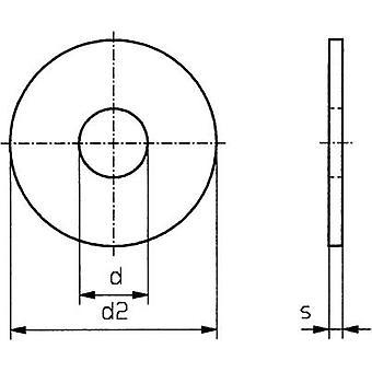 TOOLCRAFT 4,3 D9021:A2K 194725 Washers Inside diameter: 4.3 mm M4 DIN 9021 Steel zinc plated 100 pc(s)