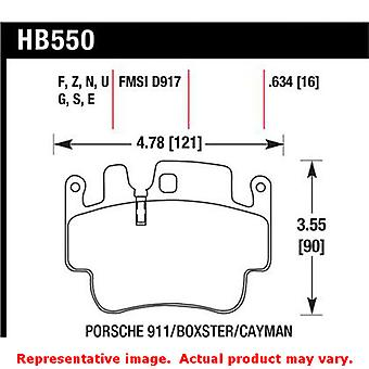 Hawk 'Performance Street' Brake Pads HB550Z.634 Fits:PORSCHE 1998 - 1998 911 CA