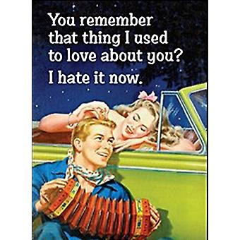 You Remember That Thing I Used To Love... Funny Fridge Magnet