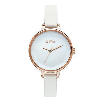 s.Oliver Damen Uhr Armbanduhr Leder SO-3583-LQ