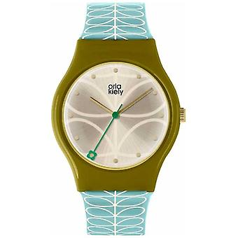 Orla Kiely Orla Kiely Ladies Bobby Olive Green And Sky Blue OK2226 Watch