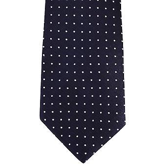 David Van Hagen Spotted Tie - Navy/White