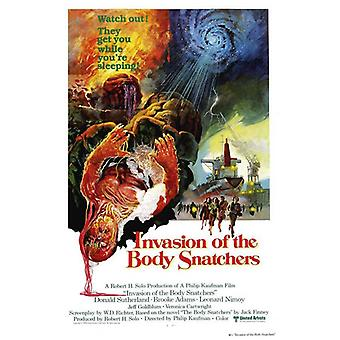 Invasión del cuerpo Snatchers película cartel (11 x 17)