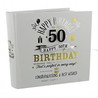 Signography 50th Birthday Gift Photo Album
