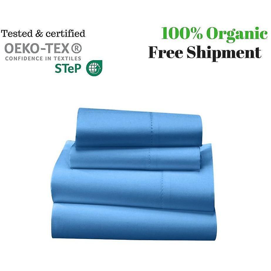 Sheet light 1000 Cotton Tc Bed 100Egyptian Blue Set htsrdQCx