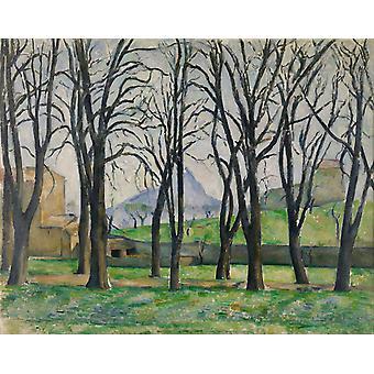 Chestnut Trees at the jas de Bouffan, Paul Cezanne, 50x40cm