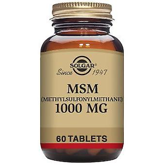 Solgar MSM Methylsulfonylmethane 1000 mg 60 Tablets