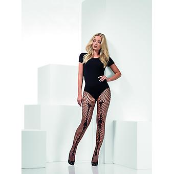 Visnet skelet bot Dames Halloween kostuum zwarte panty