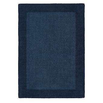 Boarders Navy rechthoek tapijten Plain/bijna gewoon tapijten