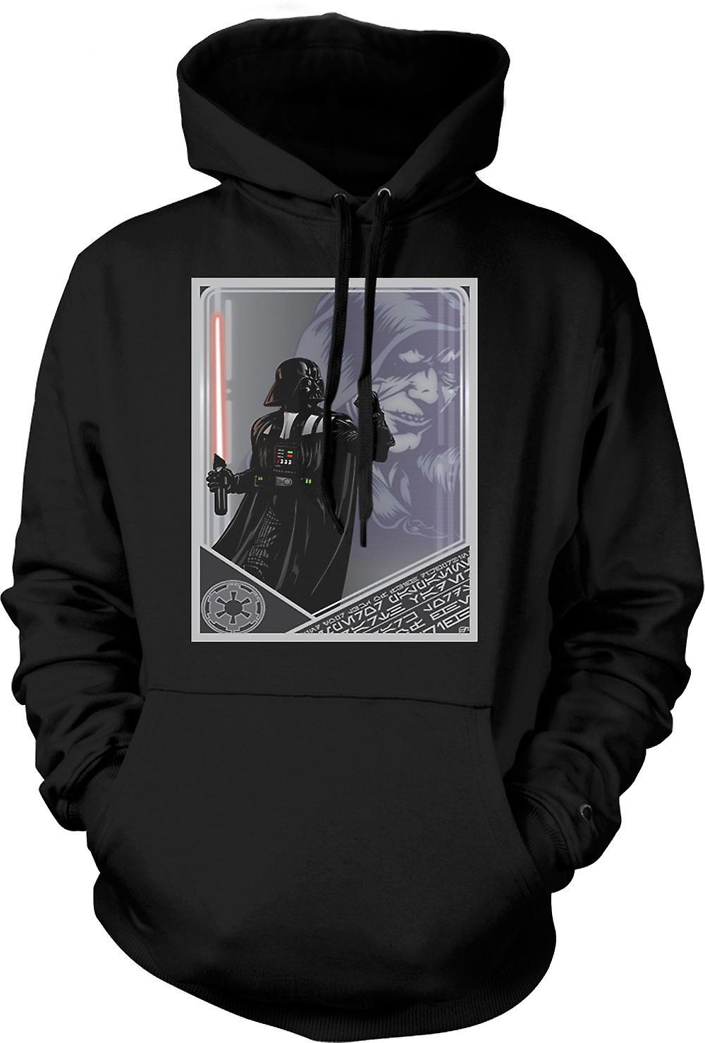 Mens Hoodie - Darth Vader & Palpatine - japanska