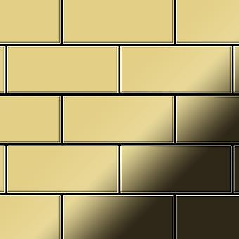 Metal mosaic Brass ALLOY Subway-BM